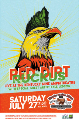 Kyle Ledson with Red Dirt Ruckus at the Kentucky Mine Amphitheater