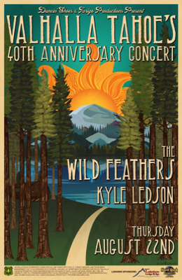 The Wild Feathers and Kyle Ledson at Valhalla Tahoe 40th anniversary concert